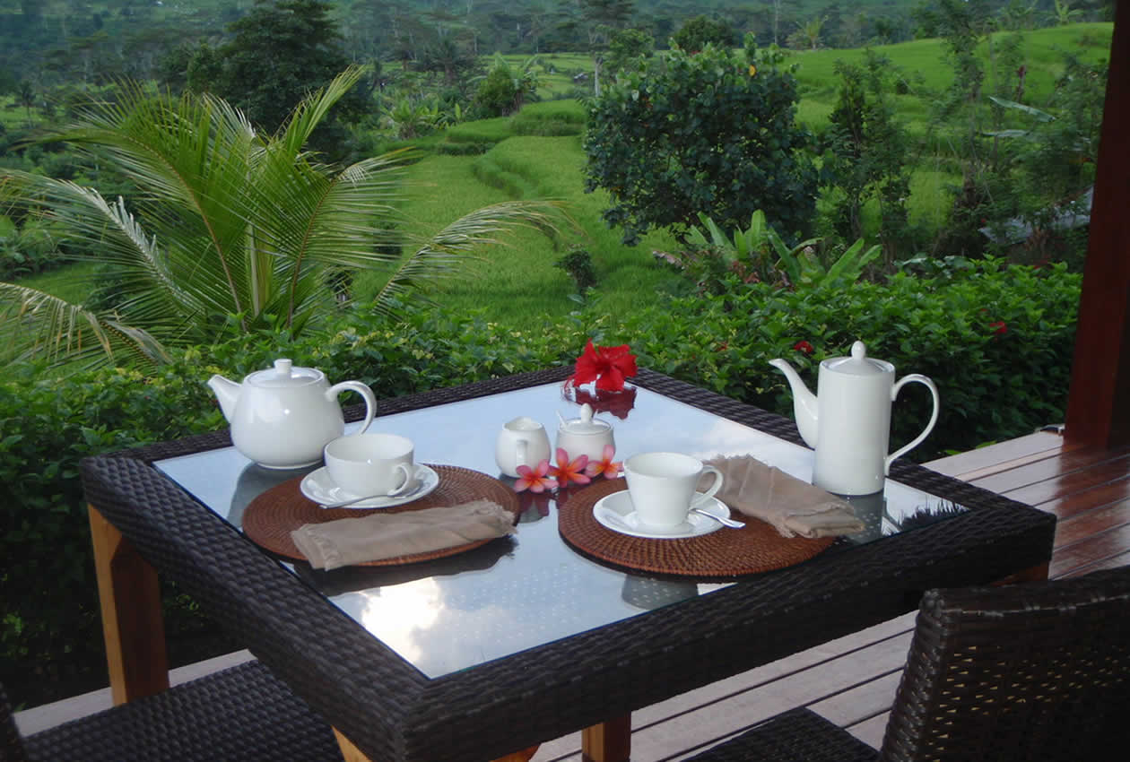 Dining at villa Shantiasa